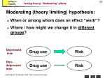 testing theory moderating effects