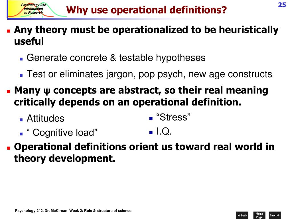 Why use operational definitions?