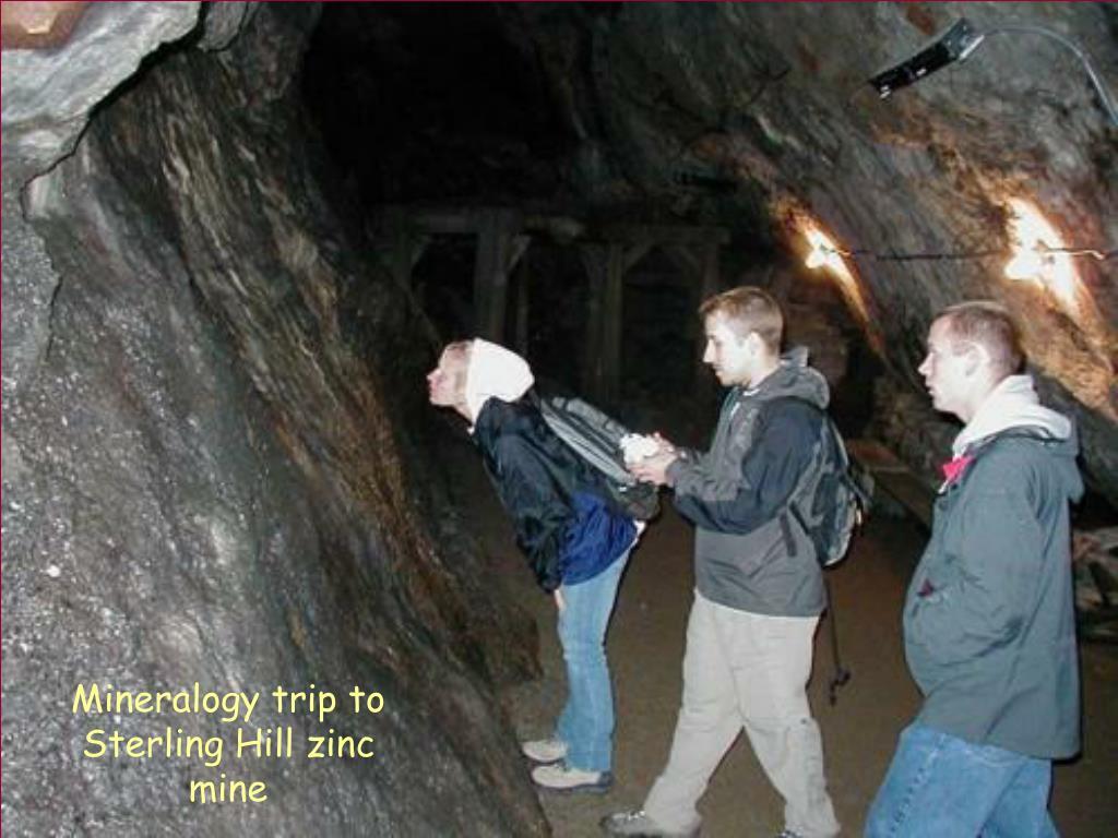 Mineralogy trip to Sterling Hill zinc mine