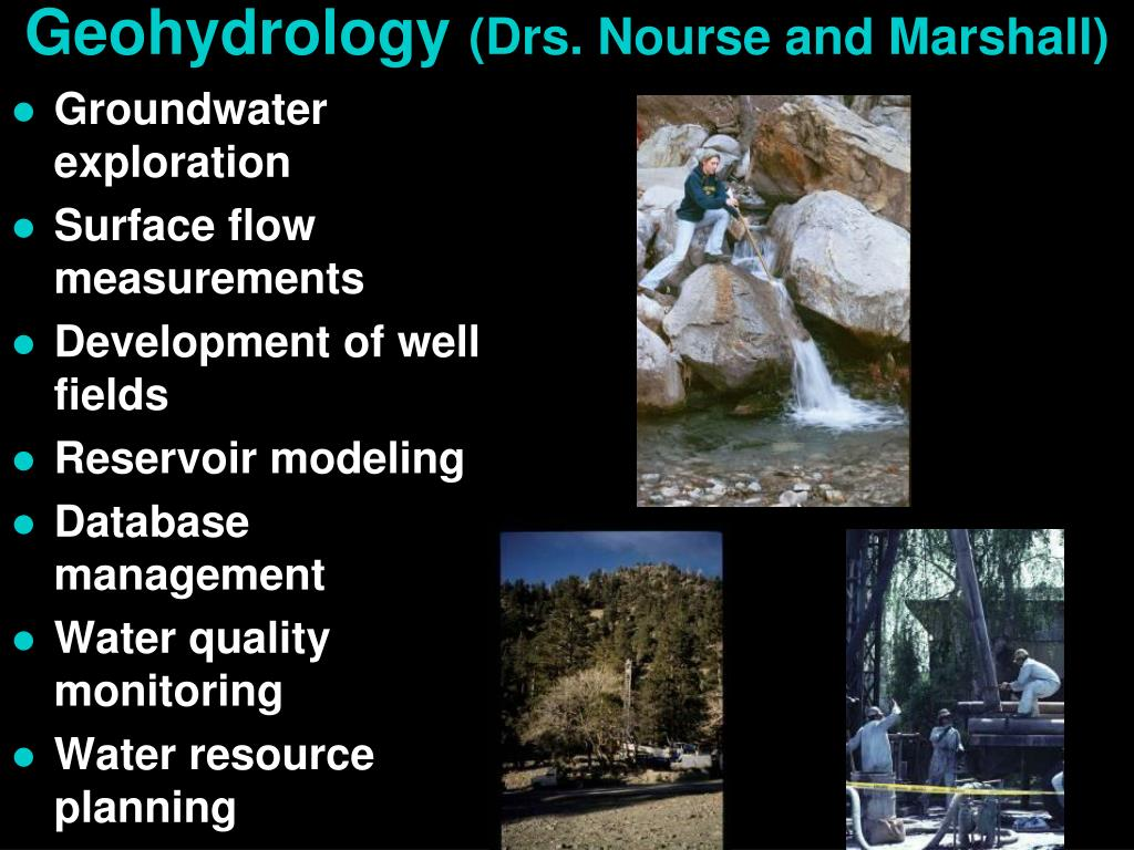Geohydrology