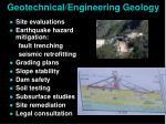 geotechnical engineering geology