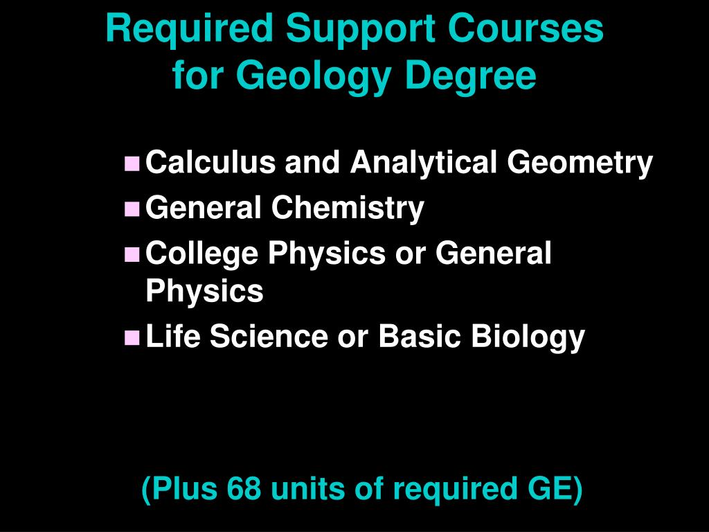 Required Support Courses