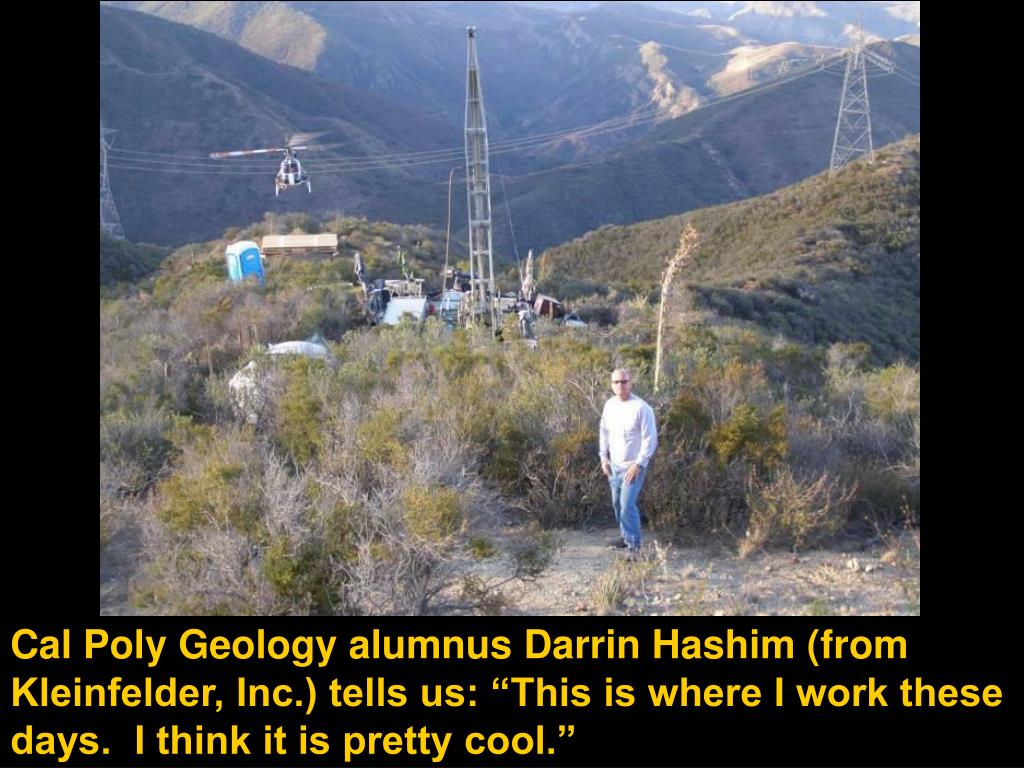 """Cal Poly Geology alumnus Darrin Hashim (from Kleinfelder, Inc.) tells us: """"This is where I work these days.  I think it is pretty cool."""""""