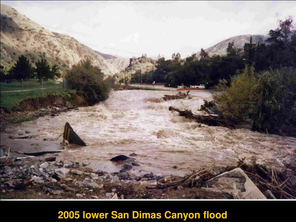 2005 lower San Dimas Canyon flood