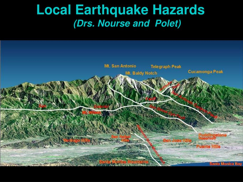 Local Earthquake Hazards