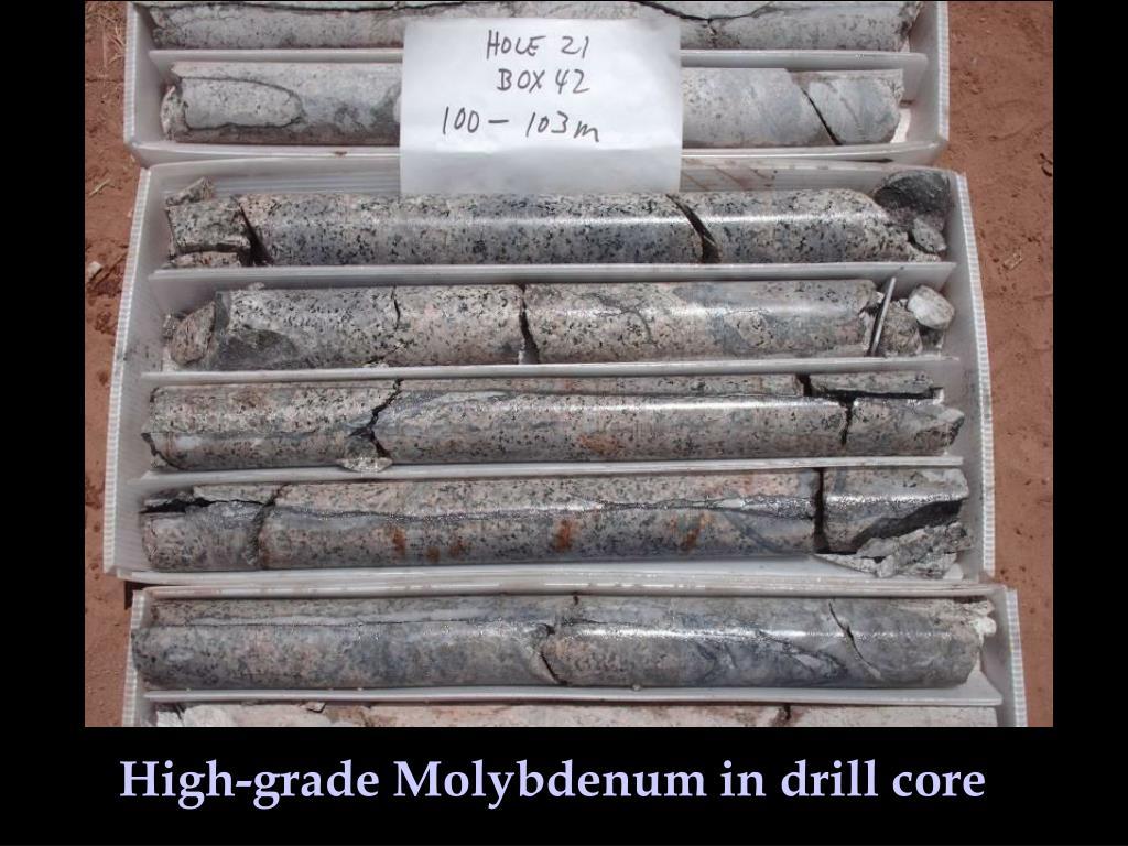 High-grade Molybdenum in drill core