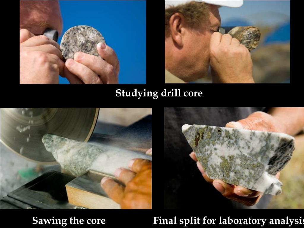 Studying drill core