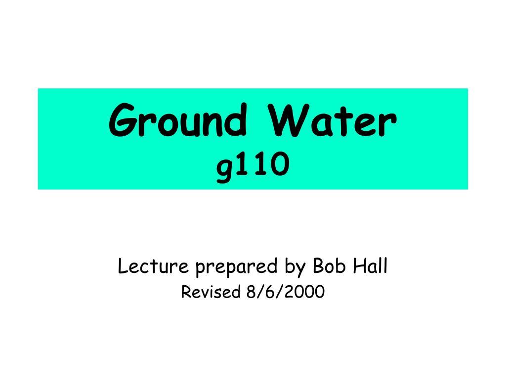 ground water g110