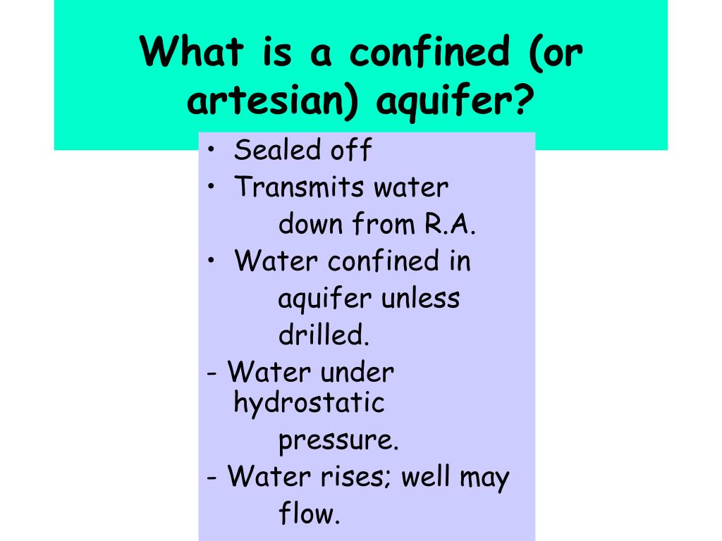 What is a confined (or artesian) aquifer?