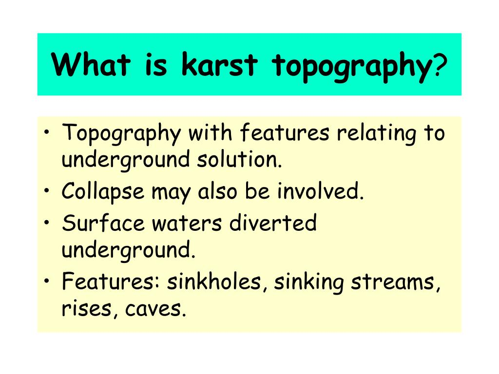 What is karst topography