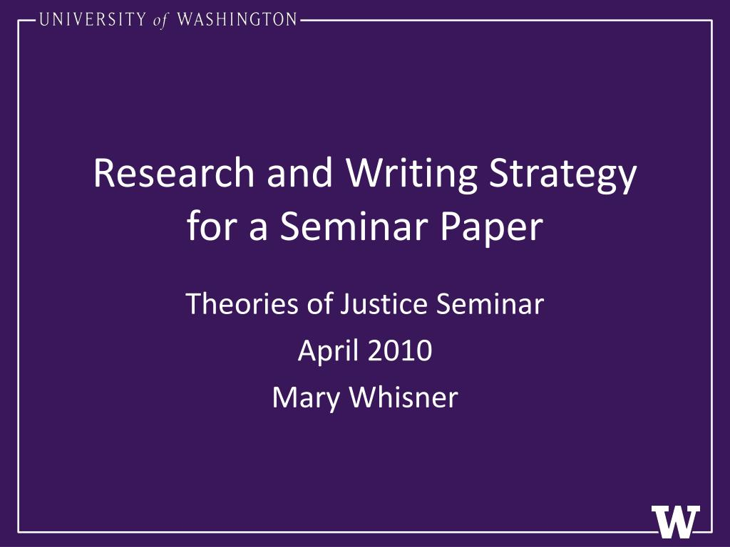 Research and Writing Strategy for