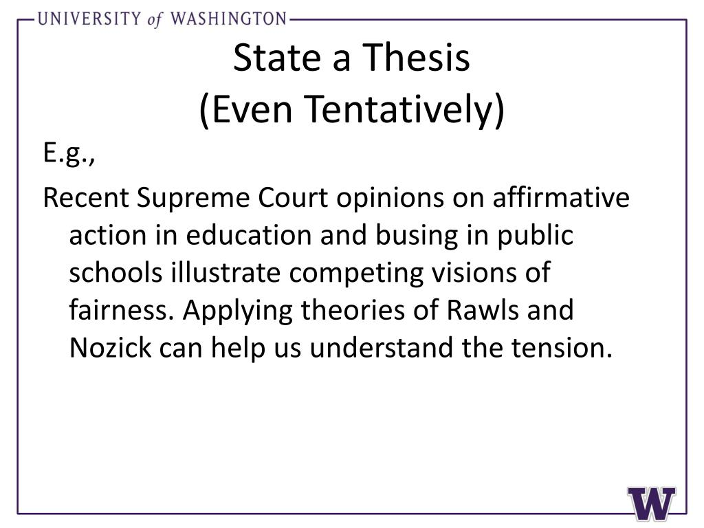 State a Thesis