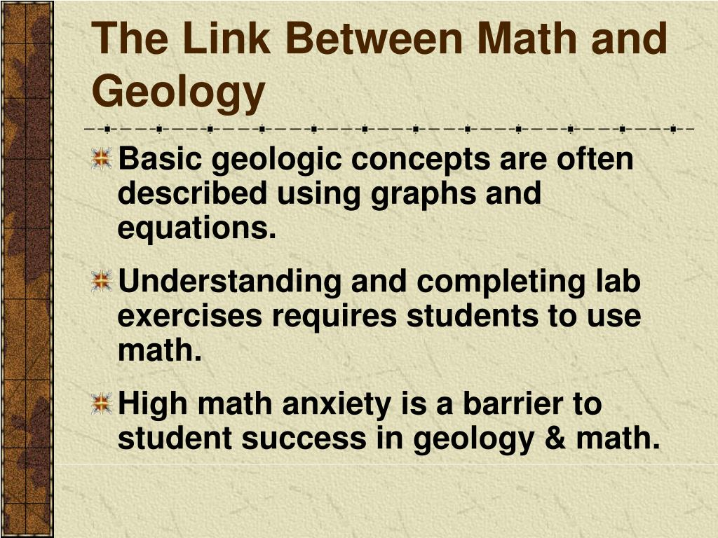 The Link Between Math and Geology