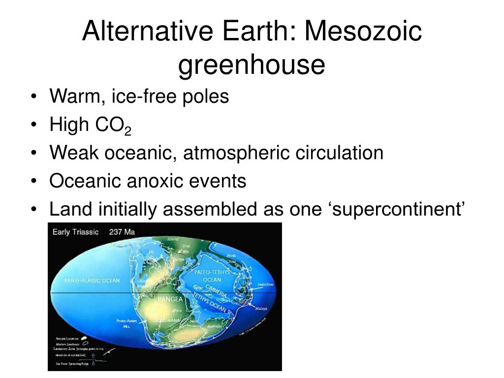Alternative Earth: Mesozoic greenhouse