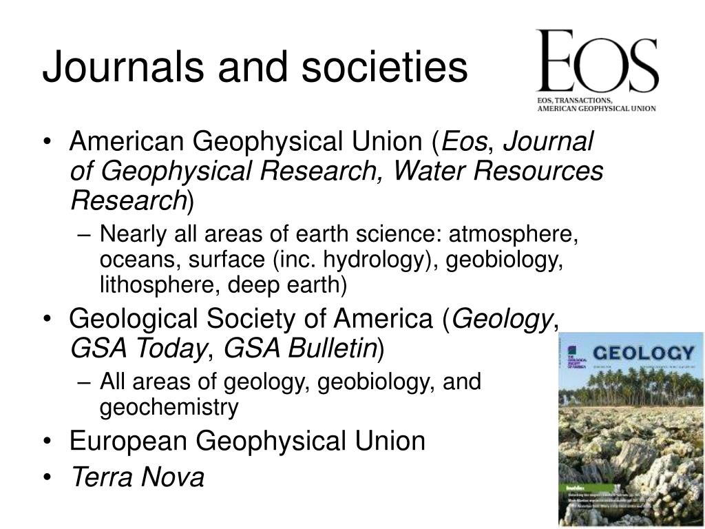 Journals and societies