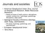 journals and societies