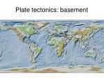 plate tectonics basement