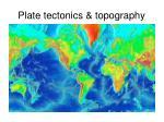 plate tectonics topography