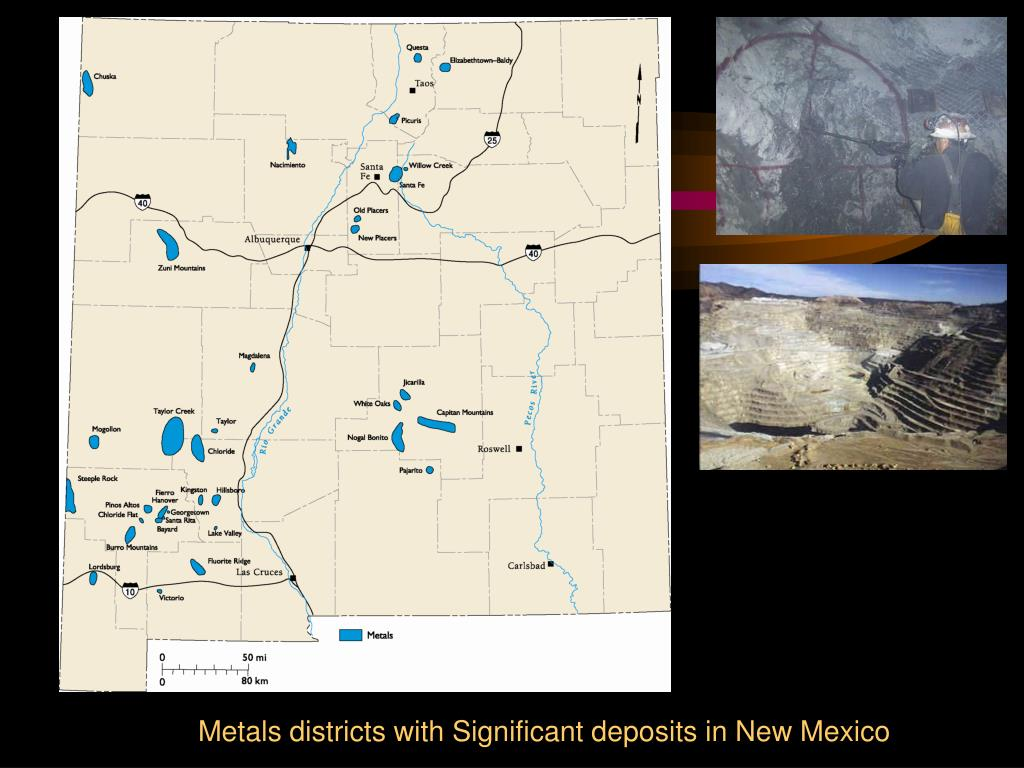 Metals districts with Significant deposits