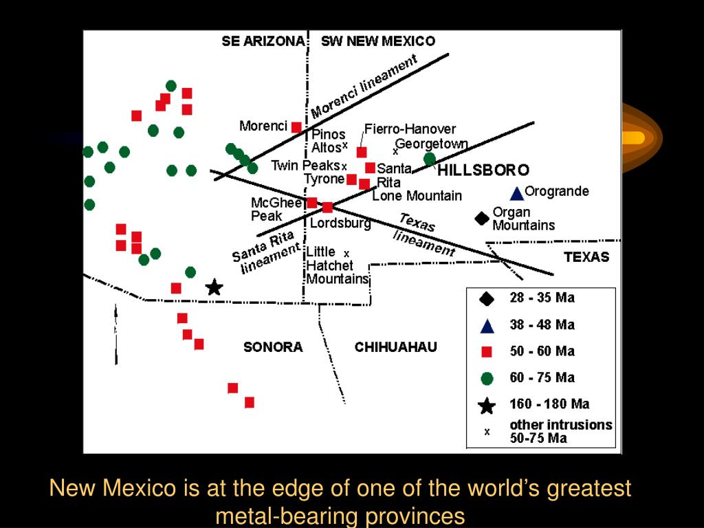 New Mexico is at the edge of one of the world's greatest metal-bearing provinces