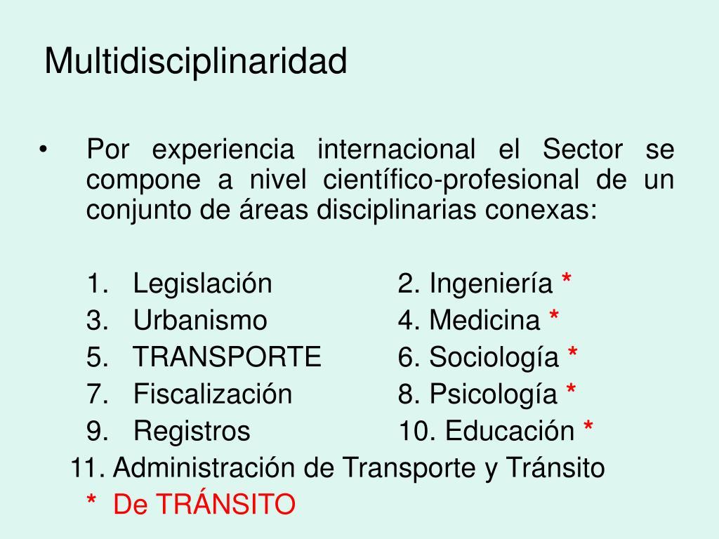 Multidisciplinaridad
