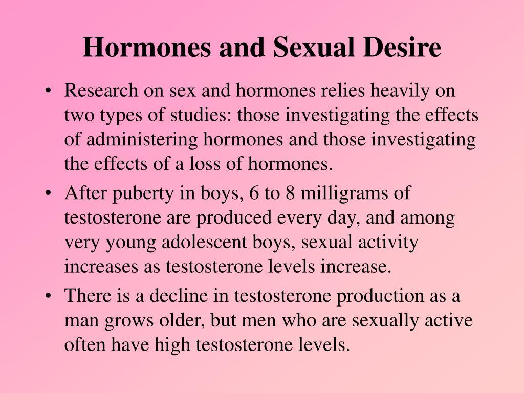 Hormones and Sexual Desire