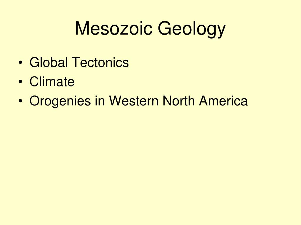Mesozoic Geology