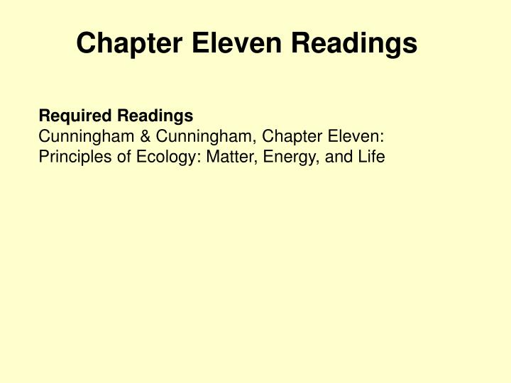 Chapter eleven readings