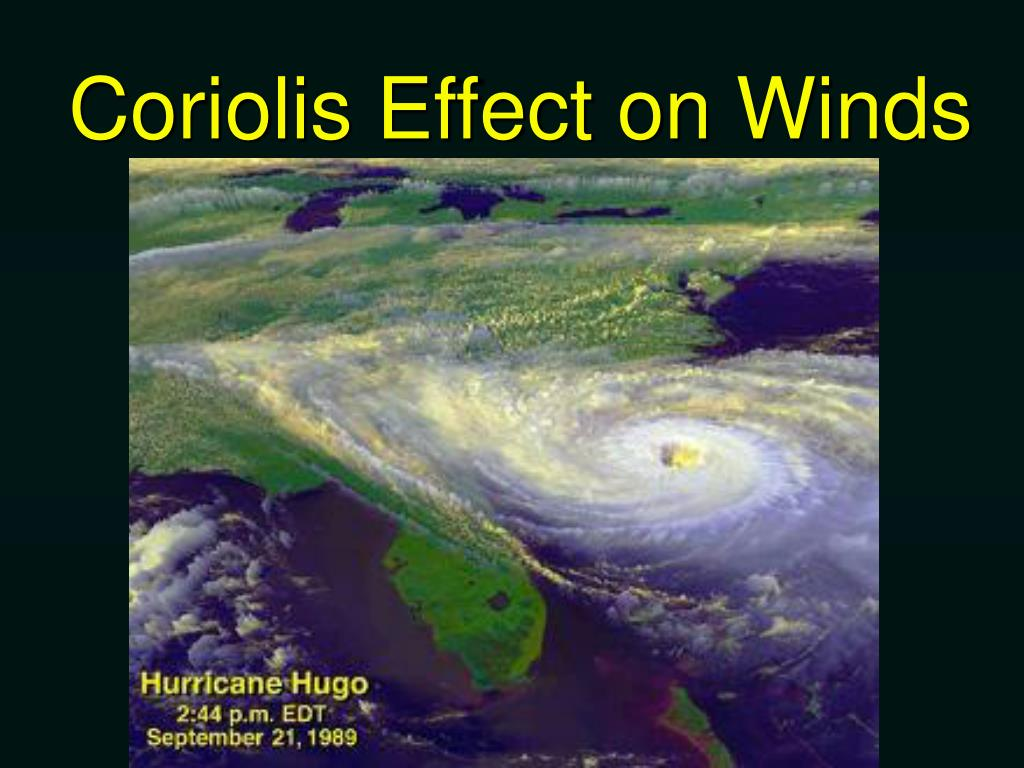 Coriolis Effect on Winds