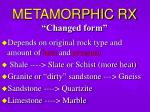metamorphic rx changed form