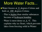 more water facts