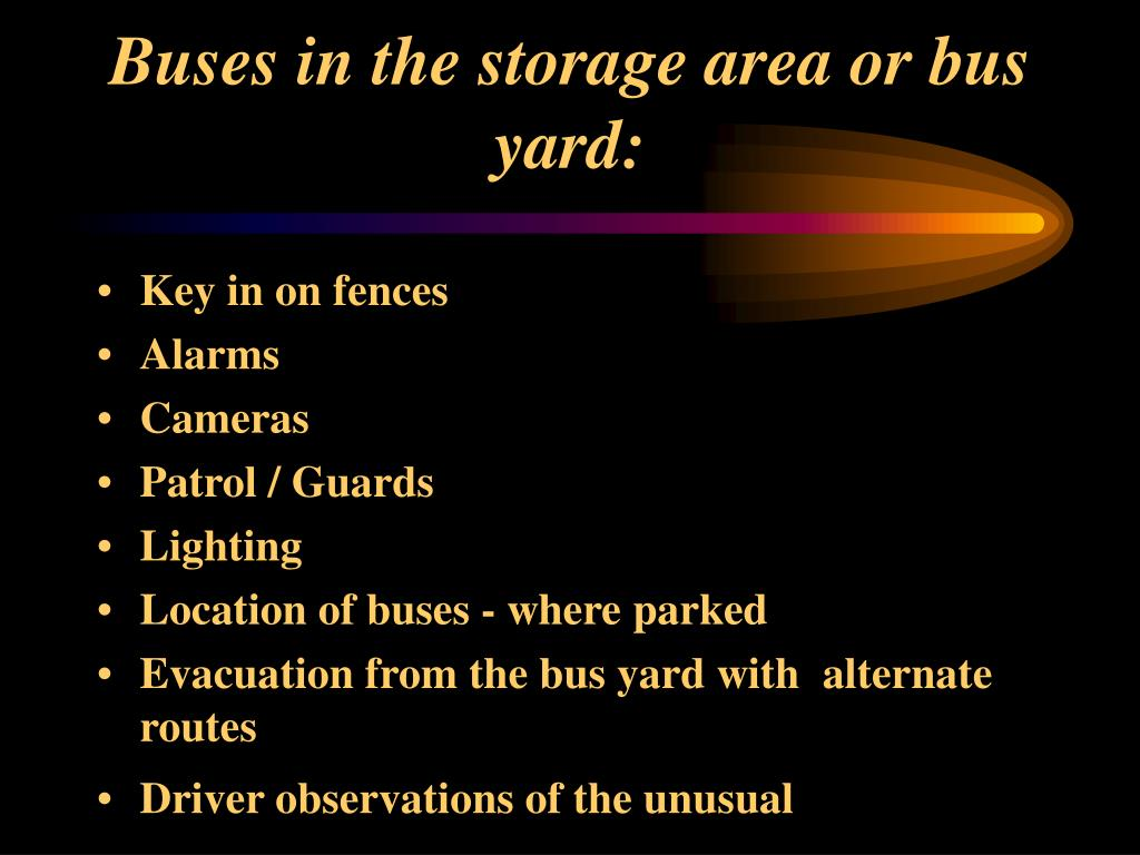 Buses in the storage area or bus yard: