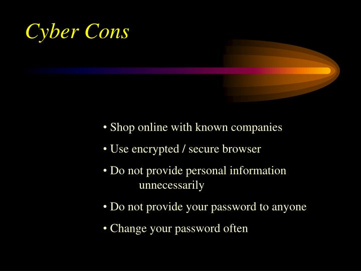 Cyber Cons