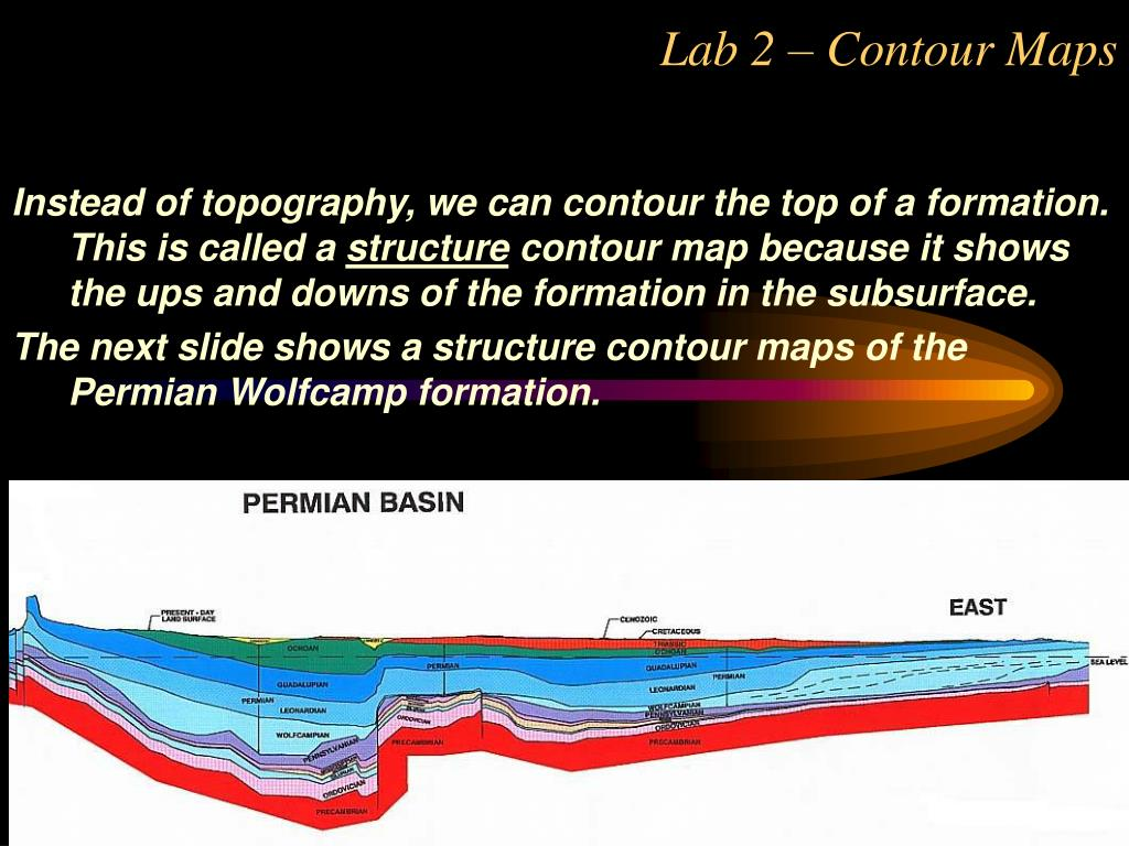Instead of topography, we can contour the top of a formation. This is called a