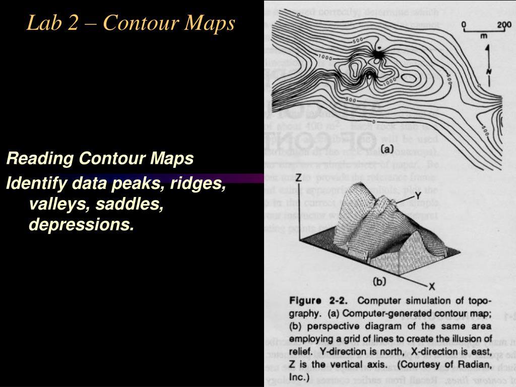 Lab 2 – Contour Maps