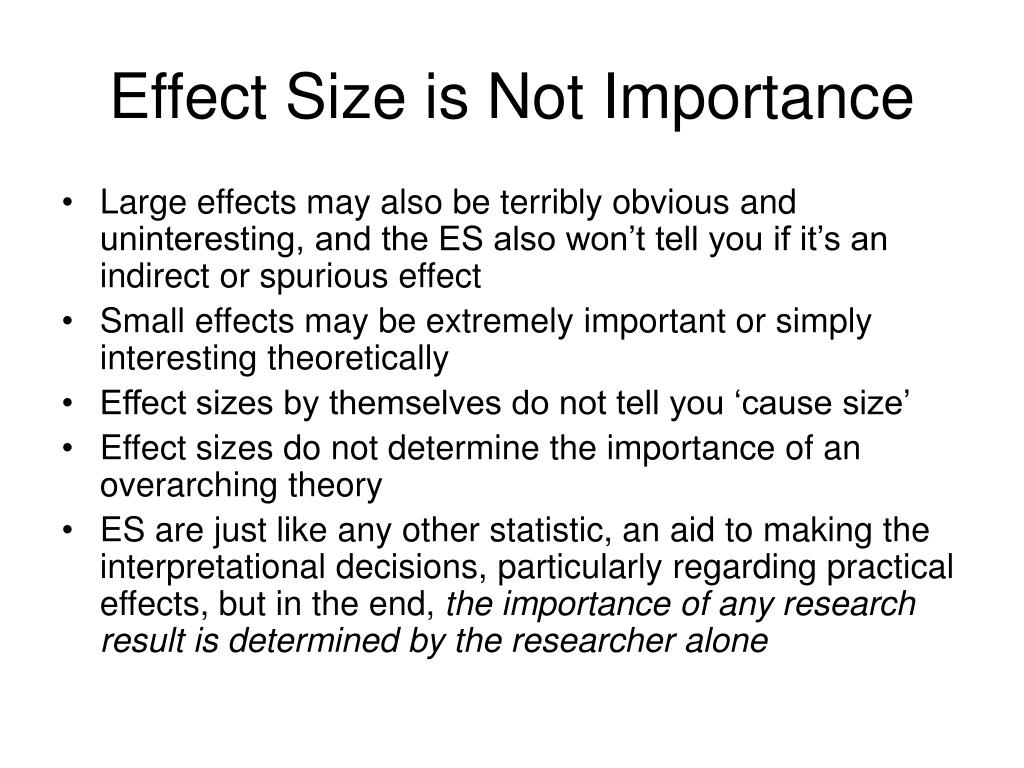 Effect Size is Not Importance