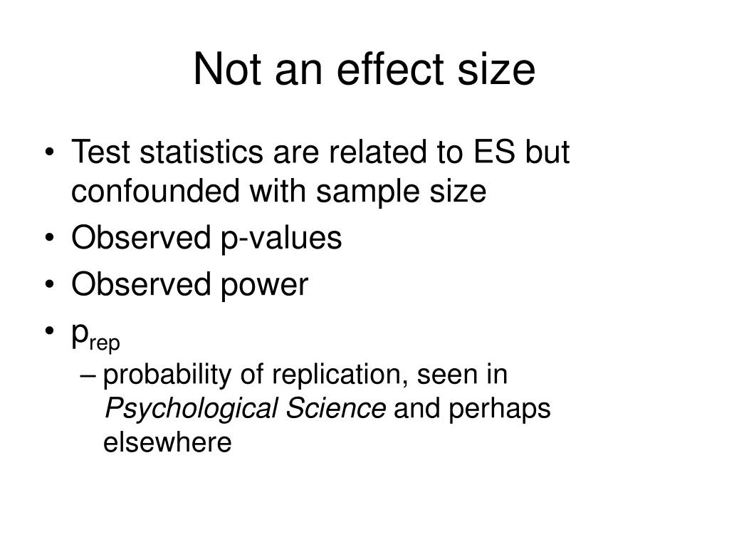 Not an effect size