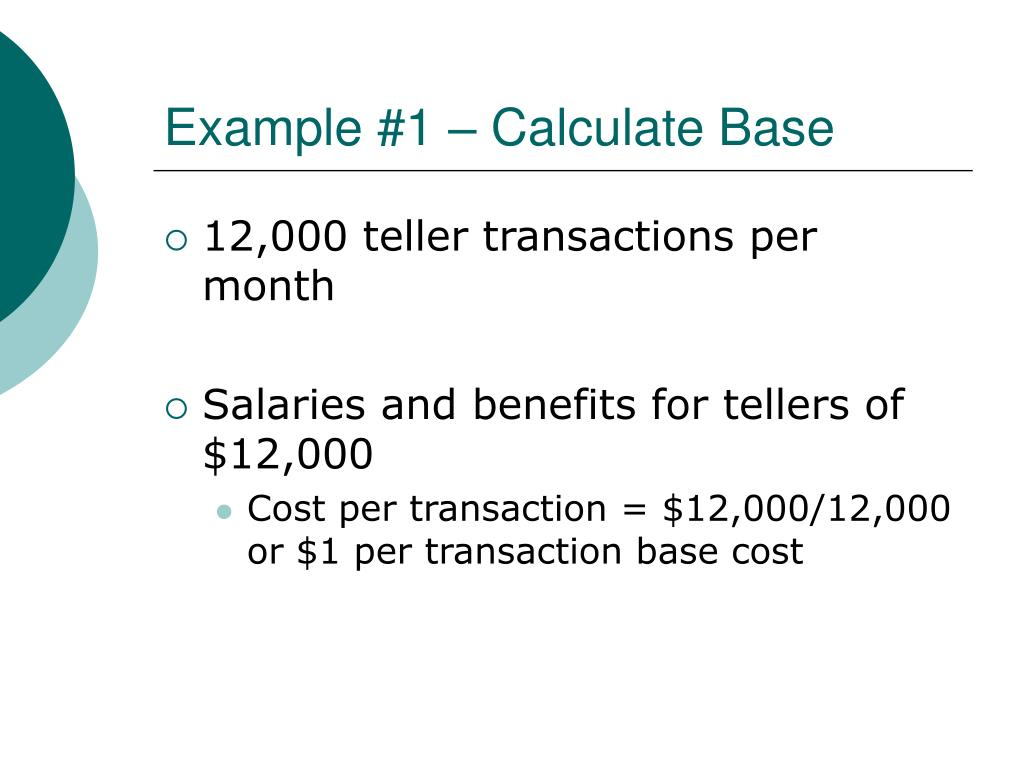 Example #1 – Calculate Base