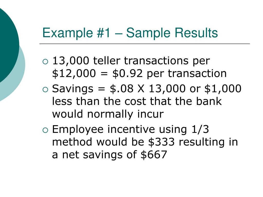Example #1 – Sample Results