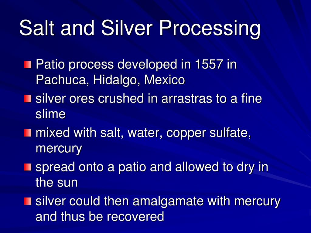 Salt and Silver Processing