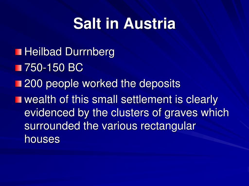 Salt in Austria