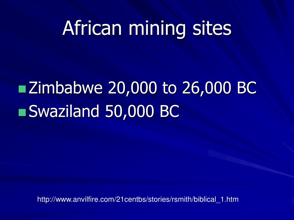 African mining sites