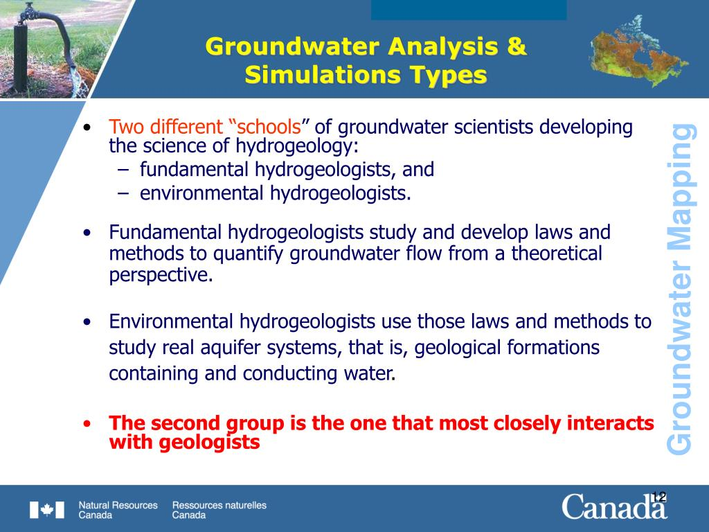 Groundwater Analysis & Simulations Types