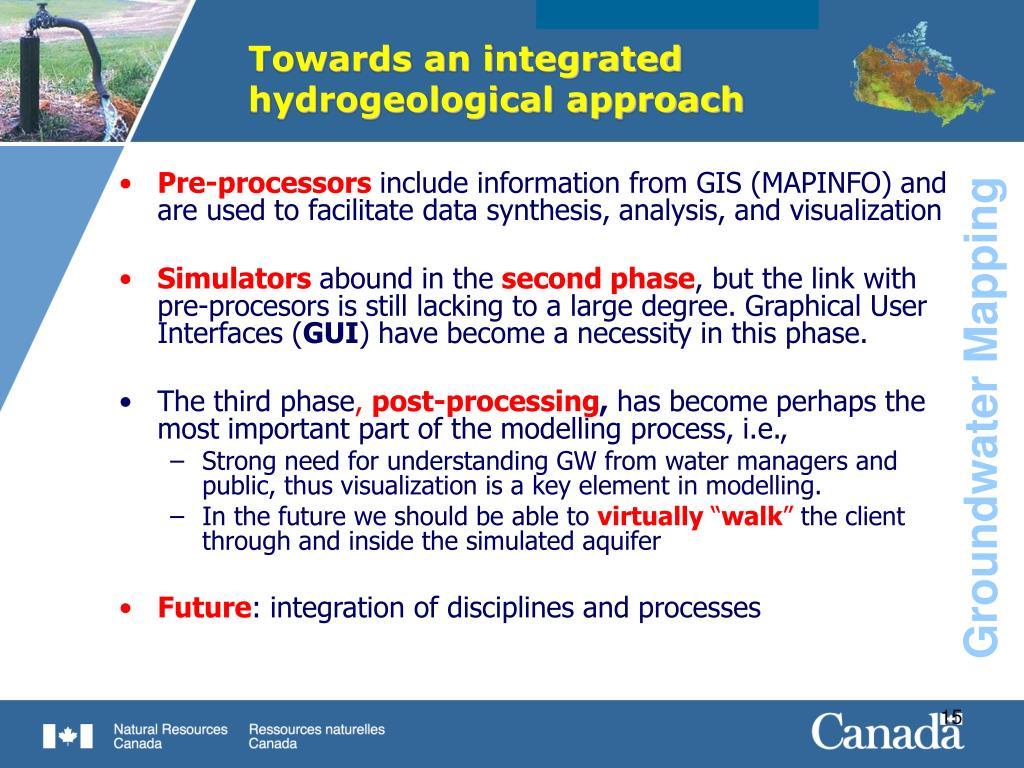 Towards an integrated hydrogeological approach