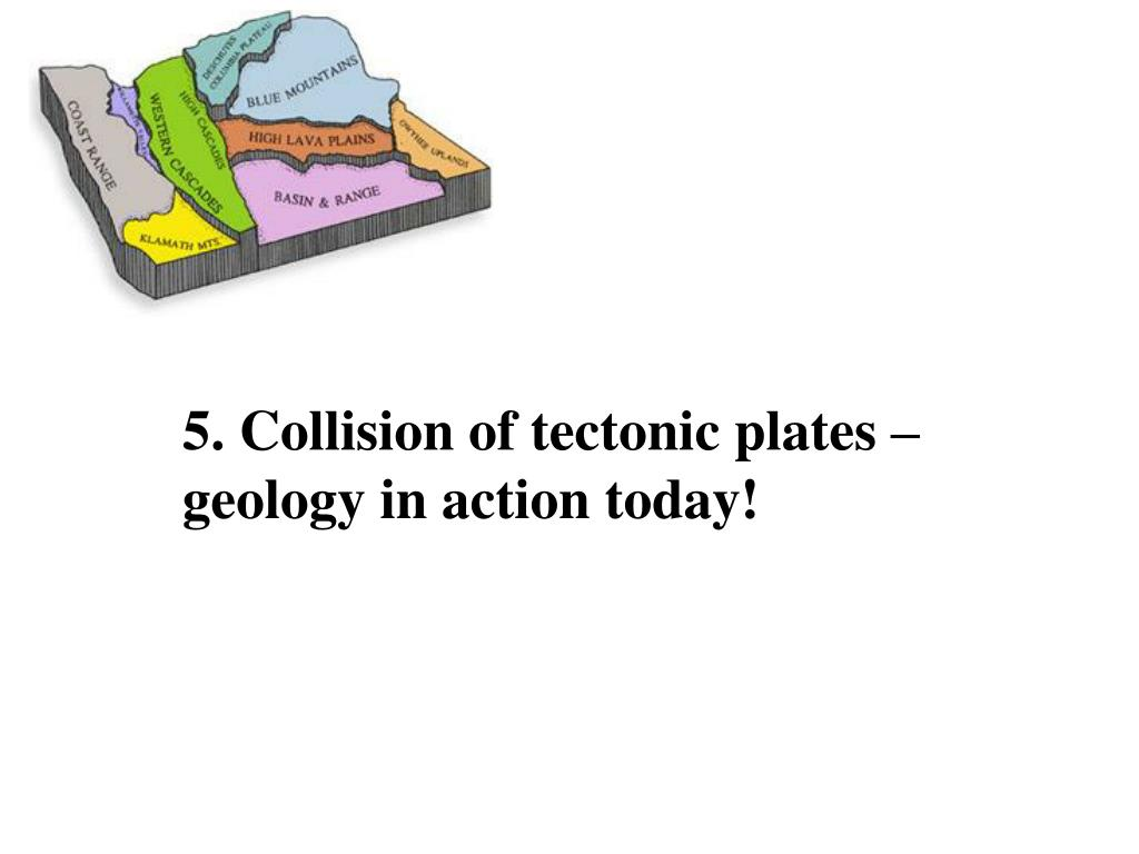 5. Collision of tectonic plates – geology in action today!