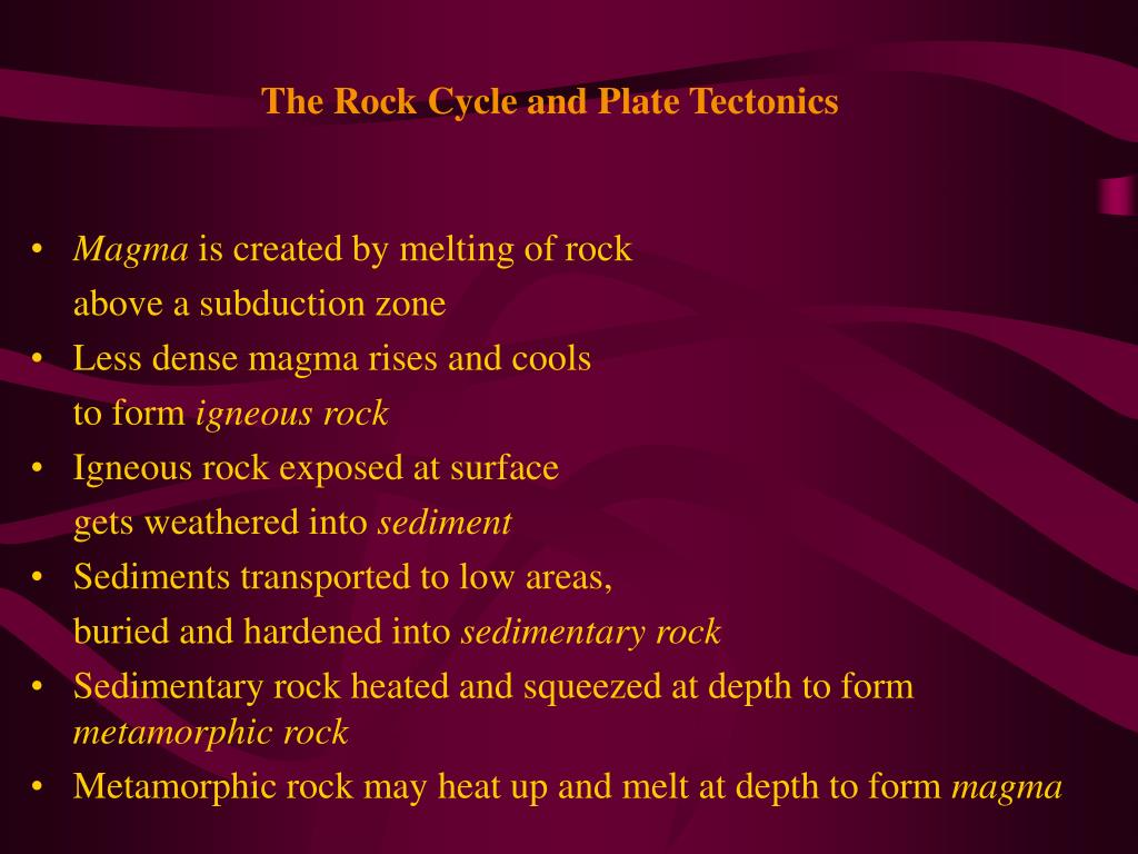 The Rock Cycle and Plate Tectonics