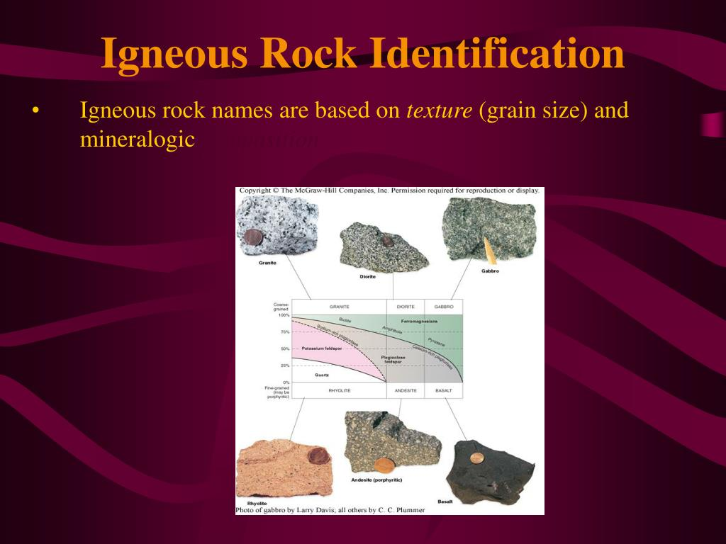 Igneous Rock Identification