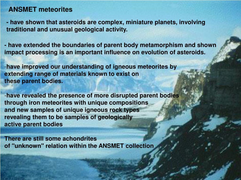 ANSMET meteorites