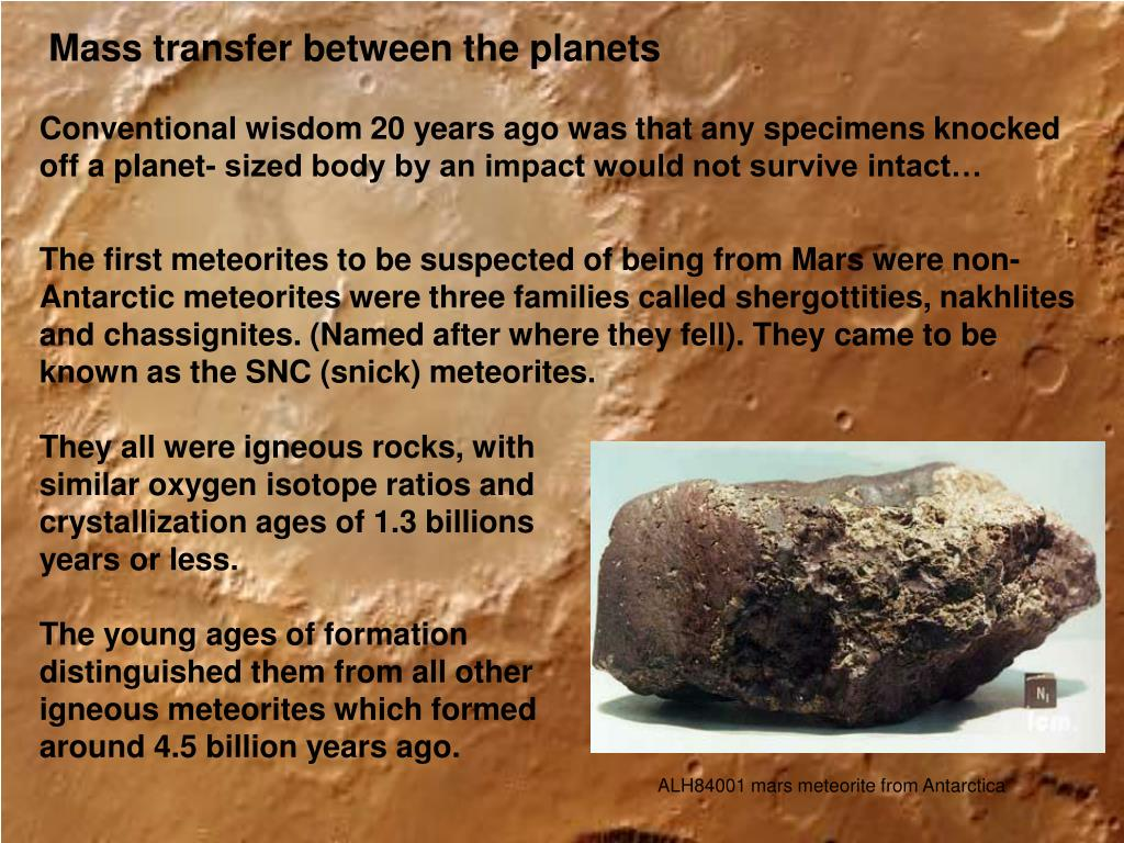 Mass transfer between the planets