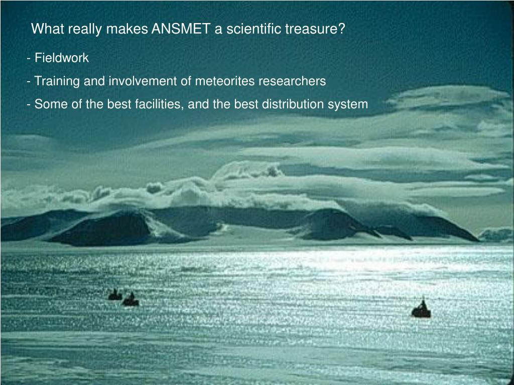 What really makes ANSMET a scientific treasure?